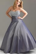 Jarrow Taffeta Strapless Sweetheart Ball Gown Plus Size Dress