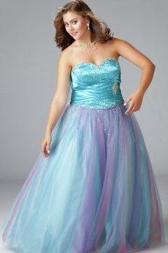 Sweetheart Lace Up Tulle Plus Size Graduation Dress