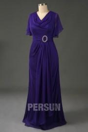 Elegantes schwarzes Etui-Linie Bodenlanges Chiffon Abendkleider für Mollige