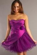 Olney A line Strapless Applique Organza Plus Size Dress