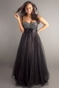 Oswestry A line Strapless Sweetheart Beaded Plus Size Dress
