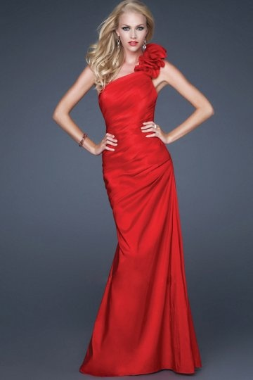 Chic One Shoulder Long Prom Gown