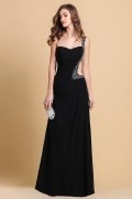 Sheath One Shoulder Beaded Cut Out Red Chiffon Prom / Evening Dress