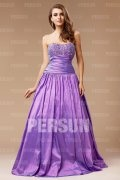 A line Sweetheart Beaded Taffeta Prom / Evening Dress