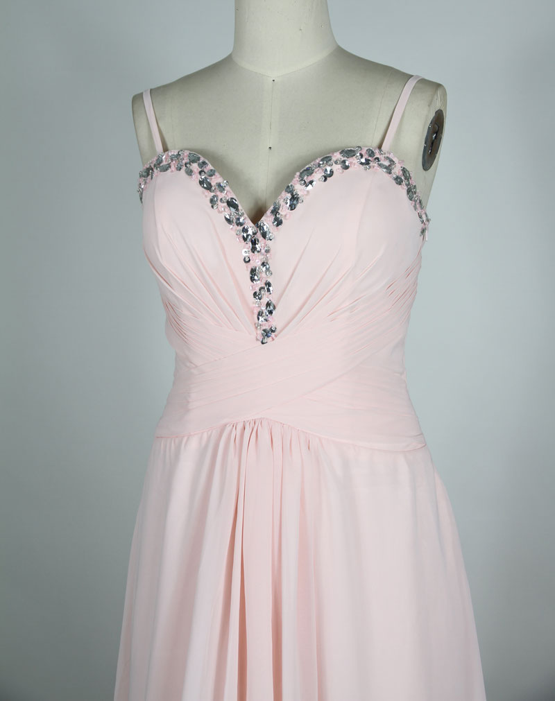 chiffon pink evening dress top