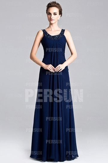 blue maxi formal dress