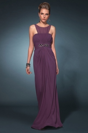 purple maxi formal dress