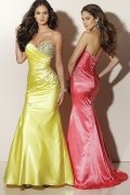 Sweetheart Beaded Print Prom / Evening Dress