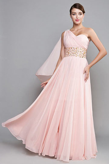 Robes l gantes france robe longue rose mariage for Robes roses pour les mariages
