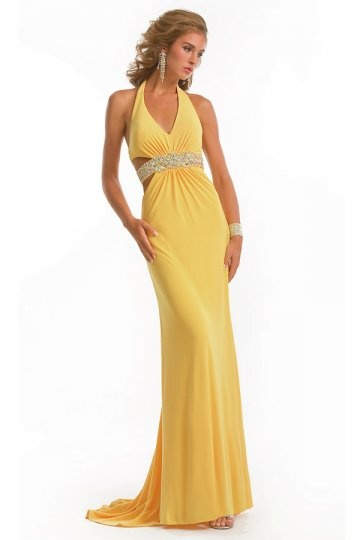 sexy yellow party dress UK
