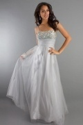 Classic Crystal Spaghetti Straps Empire A line Tulle Dress for Wedding Guest