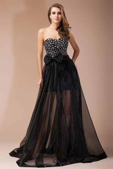 sheer formal dress