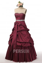 Sweetheart Bow Beading Taffeta Prom / Evening Dress with Pick Up Skirt