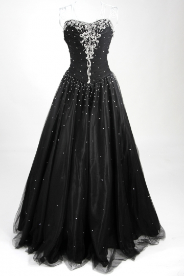 Bedlington Tulle Sweetheart Beading Sequins Ball Gown Prom Dress