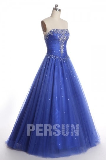Dressesmall Beading Sequins Sweetheart Tulle Ball Gown Formal Dress