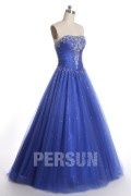 Beading Sweetheart Green Ball Gown Tulle Prom Dress