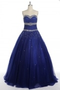 Sequins Beading Sweetheart Tulle Ball Gown Evening Dress
