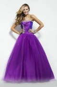 Bideford Tulle Strapless Pleat Sequin Ball Gown Prom Dress