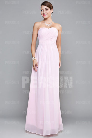 Ruching Pleats Sweetheart Chiffon A line Evening Dress Dressesmall