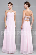 Ruching Pleats Sweetheart Chiffon A line Long Wedding Party Dress