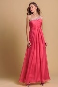 A line One Shoulder Beading Ruching Chiffon Prom / Evening Dress