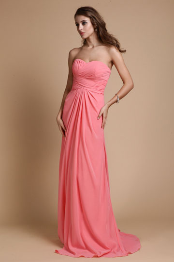 Schönes langes rosa Abendkleider bei Persunkleid.de