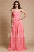 Elegant A line Sweetheart Ruched Beading Chiffon Prom / Evening Dress
