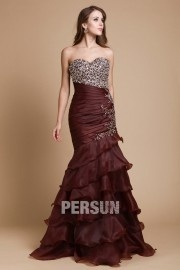 Sweetheart Beading Ruffle Floor Length Prom / Evening Dress