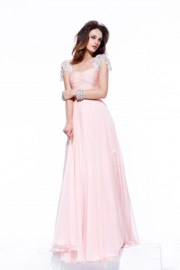 Sexy A-Linie Herz-Ausschnitt rosa Rückenfreies Abendkleid Persun