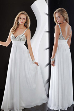 Ringwood Sexy Straps Long White UK Prom Dress
