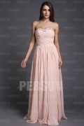 Chic Sweetheart Strapless Cross Ruched Chiffon Long Bridesmaid Dress