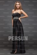 Boatneck Strapless Beading Side-slip Floor Lenth Prom Dress