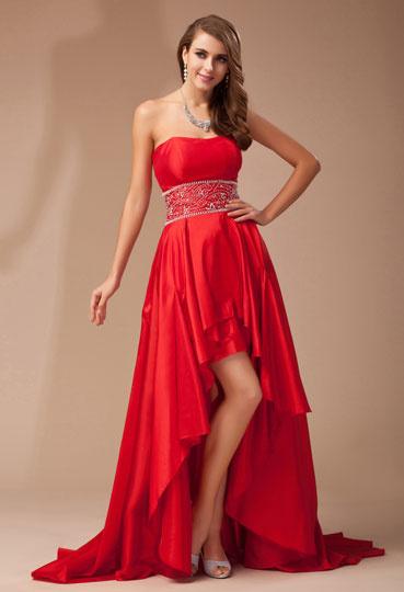 Robe de soirée bustier cœur en rouge