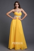 A line Empire Sweetheart Beaded Ruching Chiffon Long Formal Dress