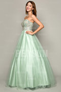 Gorgeous Tulle Sweetheart Beading A Line Long Princess Homecoming Dress