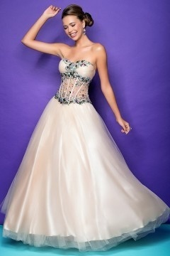 Beautiful Tulle Sweetheart Princess Prom Dress UK