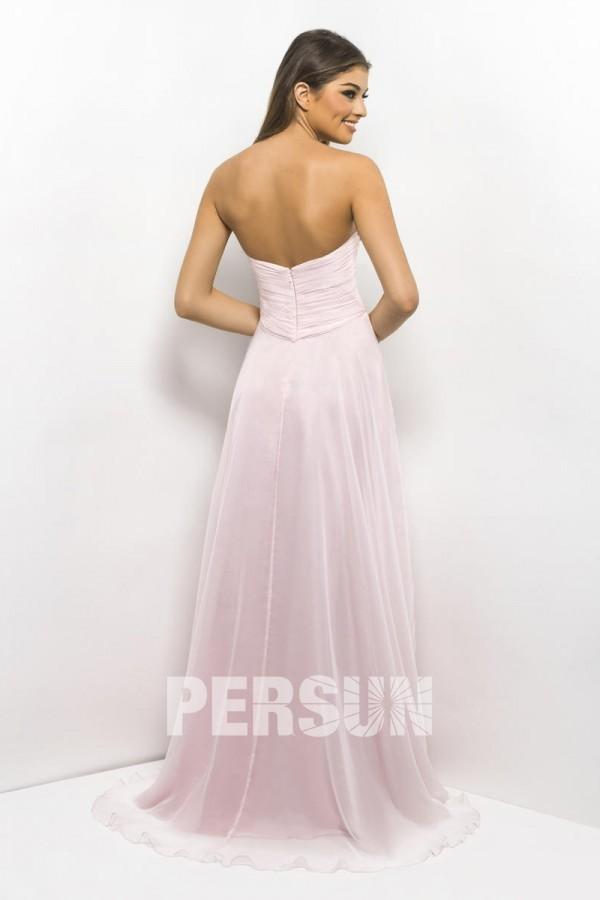 robe longue concert rose dos nu bon prix