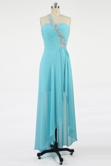 Dressesmall Gorgeous Chiffon One Shoulder Beading A line High Low Formal Dress