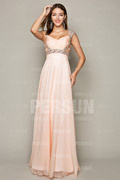 Graceful Chiffon Sweetheart Beading Ruching A line Formal Dress