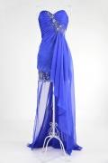 Taunton Chiffon Sweetheart Lace Applique Beading High Low Prom Dress