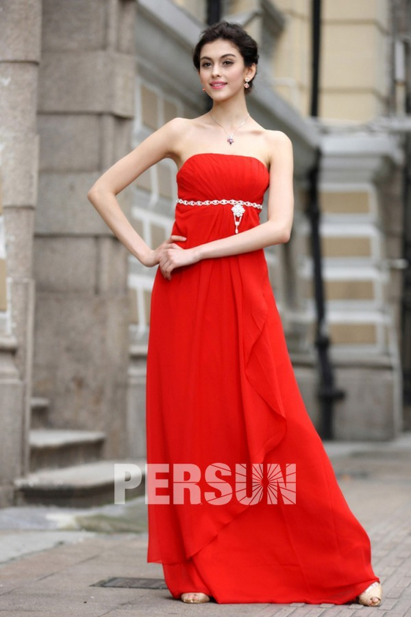 Robe bustier rouge bon prix