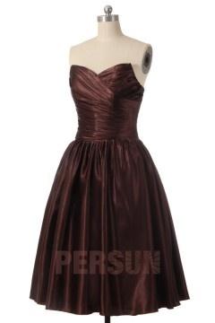 Solde robe de soirée chocolat taille 40