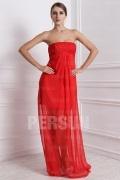 Vestido de cocktail vermelho bustiê transparente