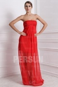 30DChiffon Strapless Beading A line Prom Dress