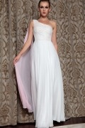 Elegant 30DChiffon Beading Ruching A line Formal Dress