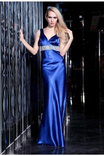 Vestido longo de baile sereia Vestido longo Cetim tecidos elástico azul