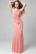 Elegant One Shoulder Empire Rhinestone Formal Evening Dress