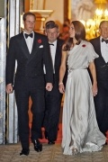 Princess Kate Elegant A line One shoulder pleats floor length evening dress