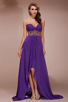 Sevenoaks Purple Sweetheart Empire Prom Dress