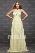 Stylish Chiffon T neck Beading Empire A line Long Formal Dress